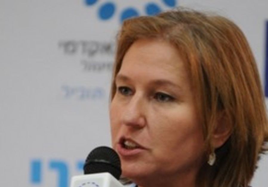 Tzipi Livni at a live Q&A session, Sunday.