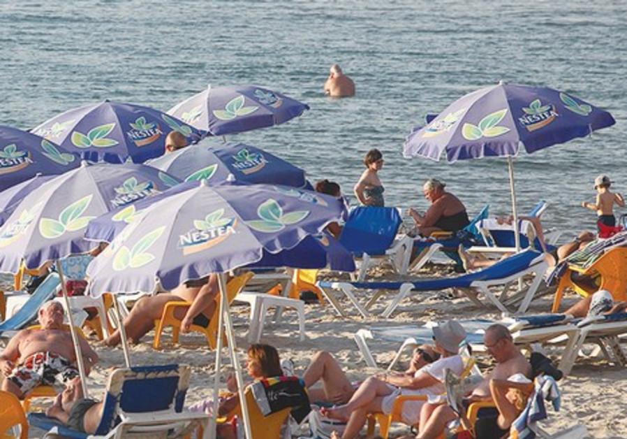 A Tel Aviv beach.