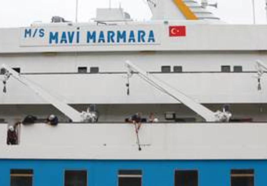 The 'Mavi Marmara' in port