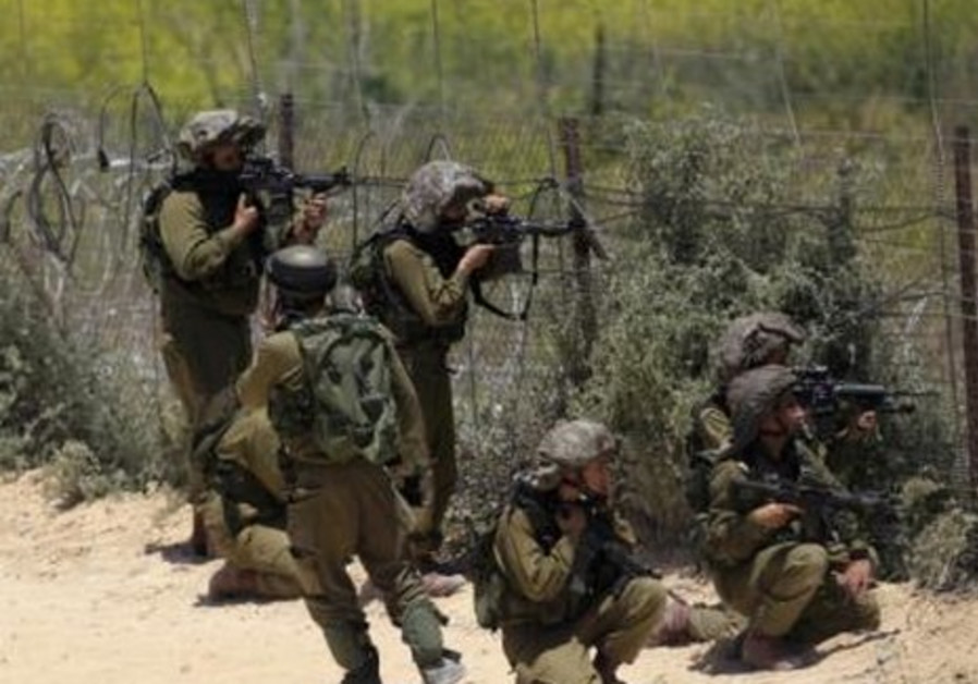 IDF solders on the Syrian-Israeli border.