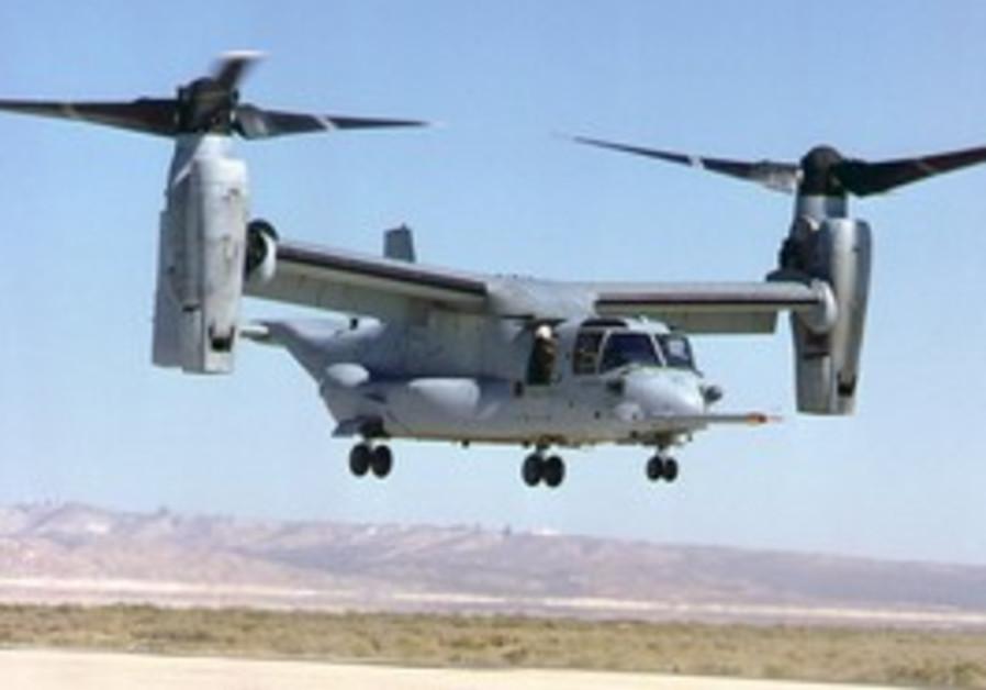 V-22 Osprey helicopter