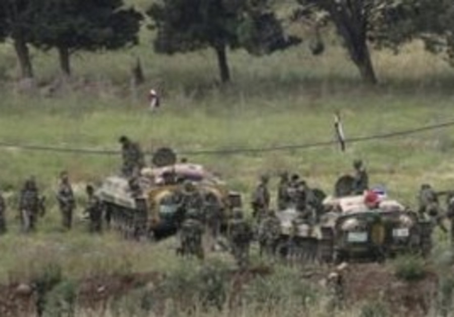 Syrian army tanks [illustrative]