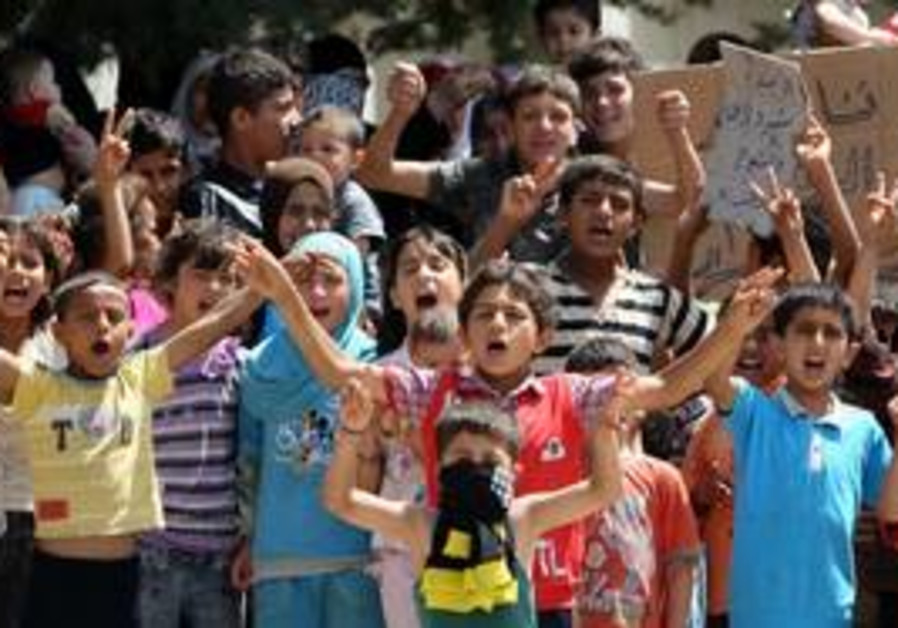 Syrian refugee children in Turkey
