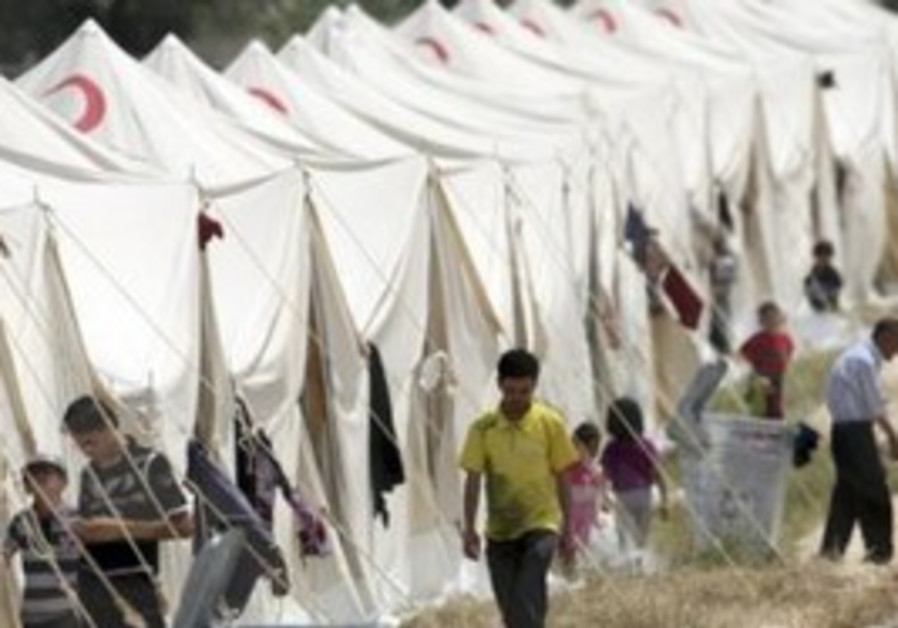 Syrian refugees in Turkish camp