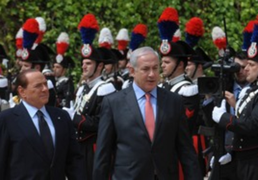 PM Binyamin Netanyahu and PM Berlusconi