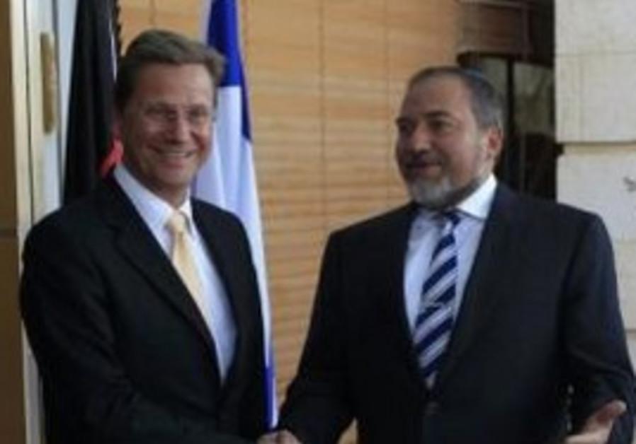 FM Lieberman and German FM Westerwelle