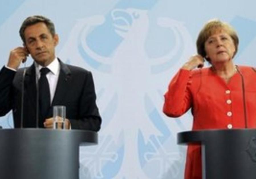 Chancellor Merkel and French President Sarkozy