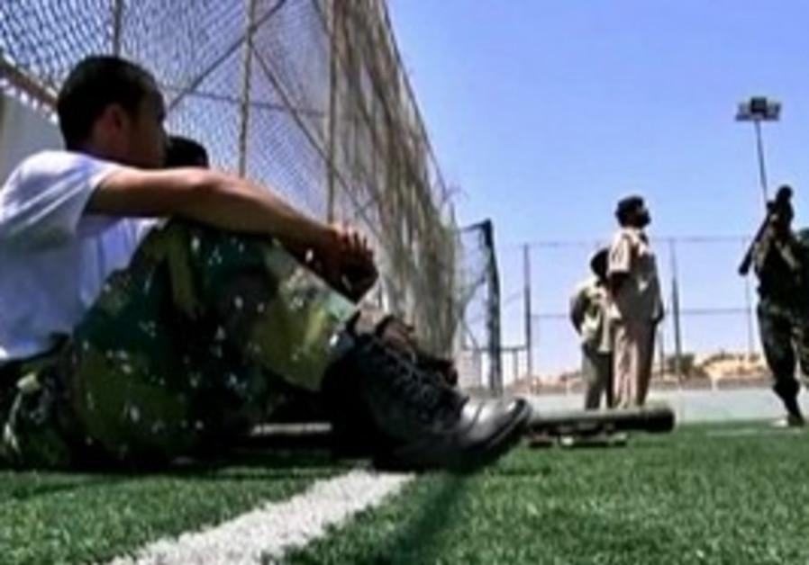 Libyan rebels train at a Misrata boot camp.