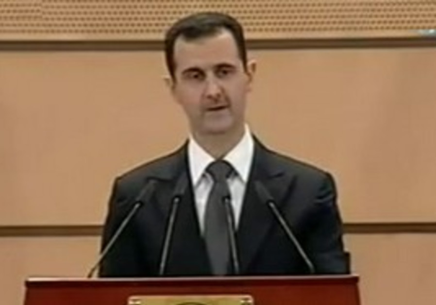 Syrian President Bashar Assad speaks, Monday