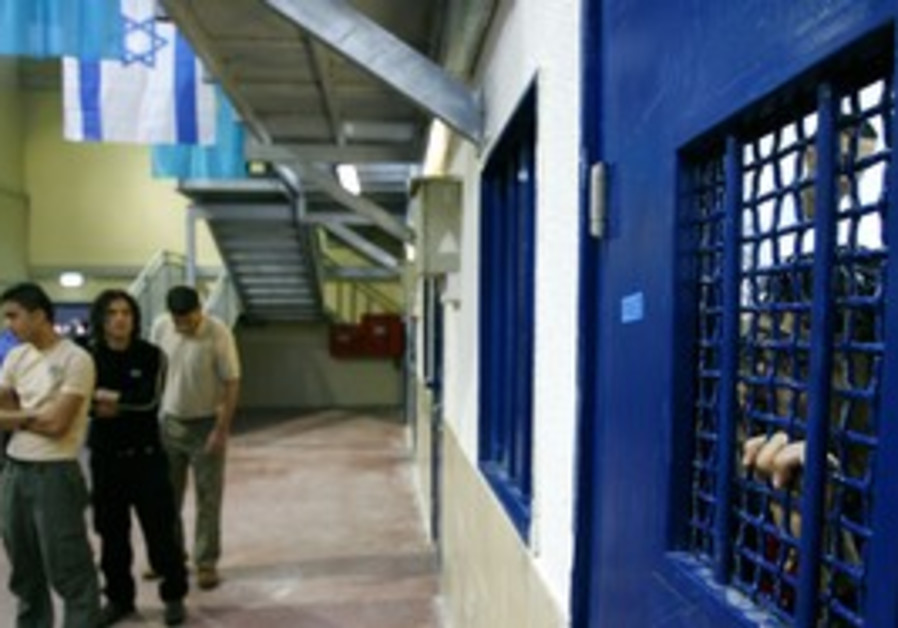 Palestinian prisoners in Israel's Ketziot prison