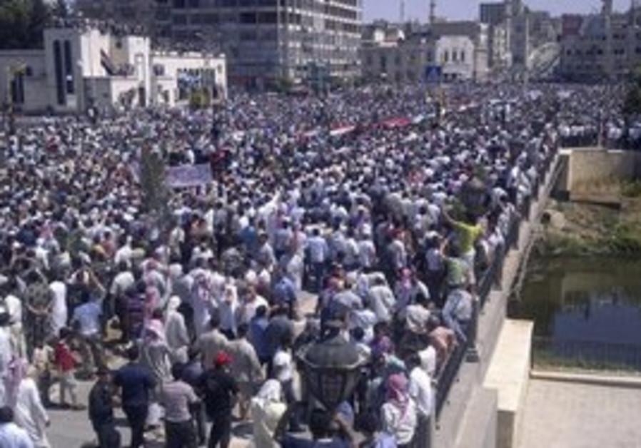 Anti-Assad protesters in Deir al-Zour, June 17.