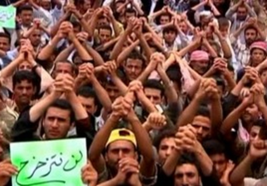 Protesters vow to stay on until Saleh leaves