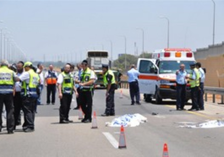 Hit-and-run accident ambulence
