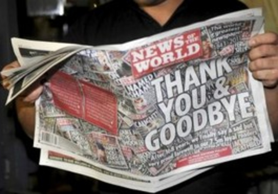 Final edition of 'News of the World'