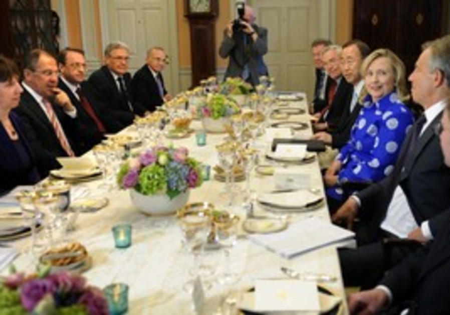 Quartet members gather for a meeting in Washington