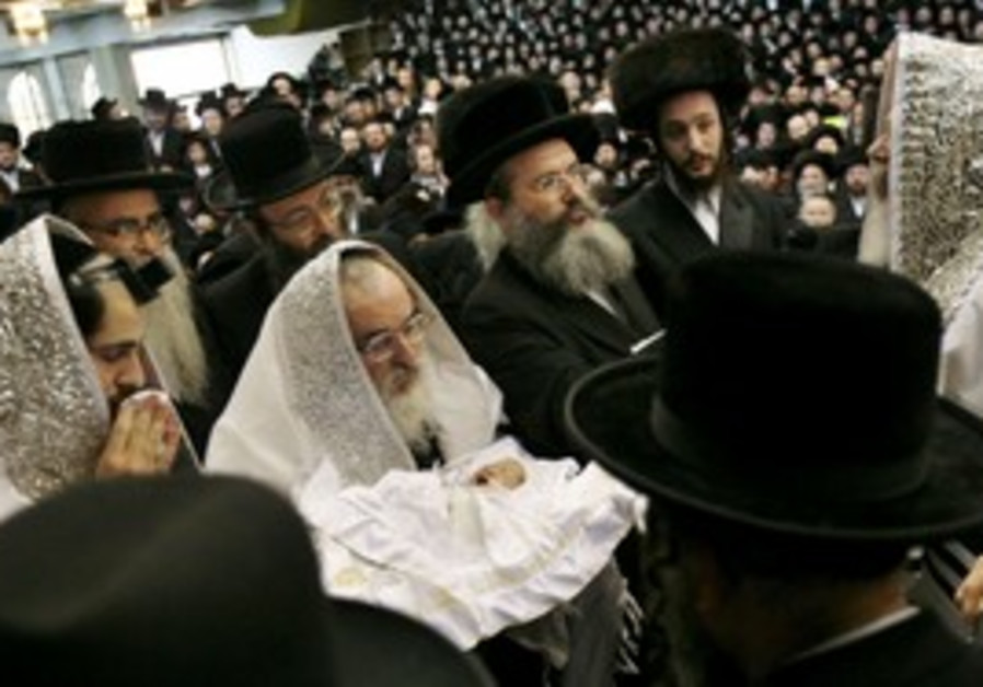 A circumcision ceremony in Bnei Brak