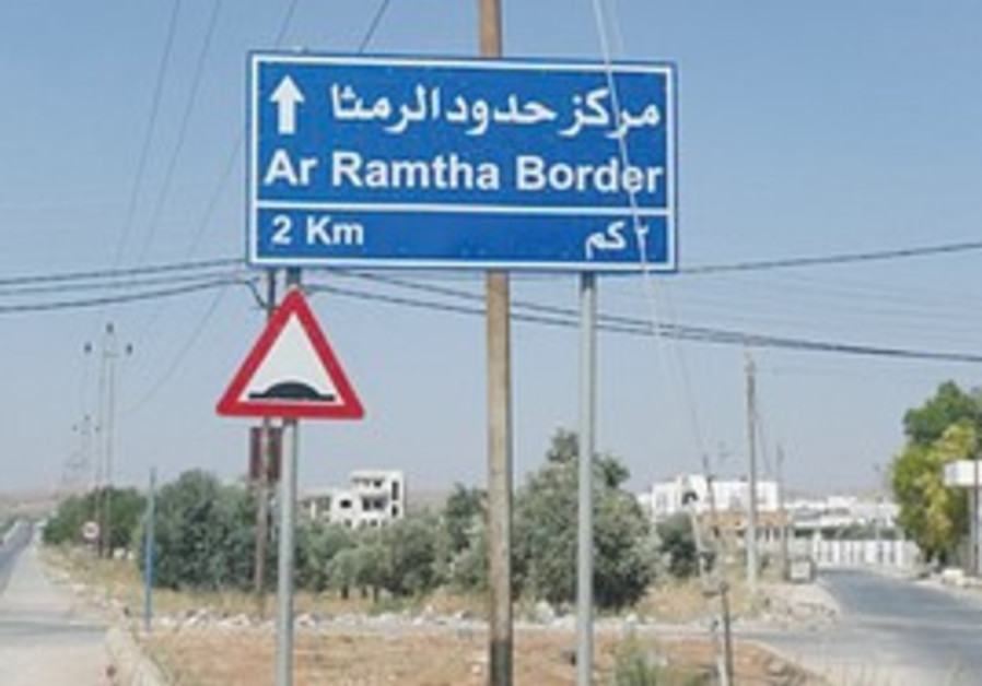 Near the Jordan-Syria border