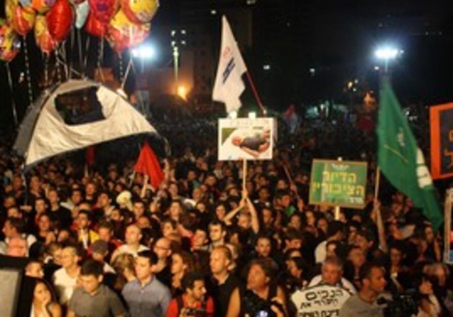 TA rally against high price of rent last week
