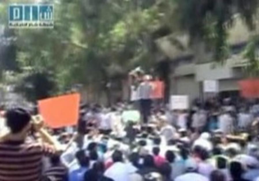 Anti-Assad protesters in Syria