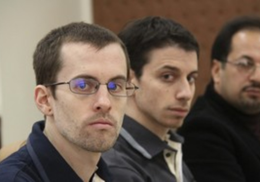 US hikers Bauer and Fattal attend Tehran trial.
