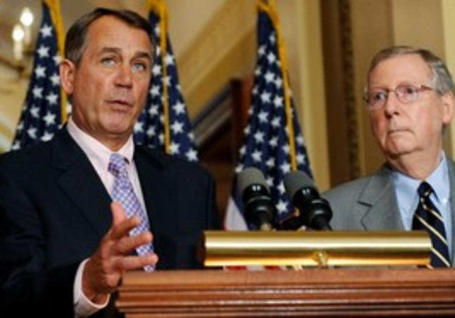 Boehner and McConnel discuss US debt deal