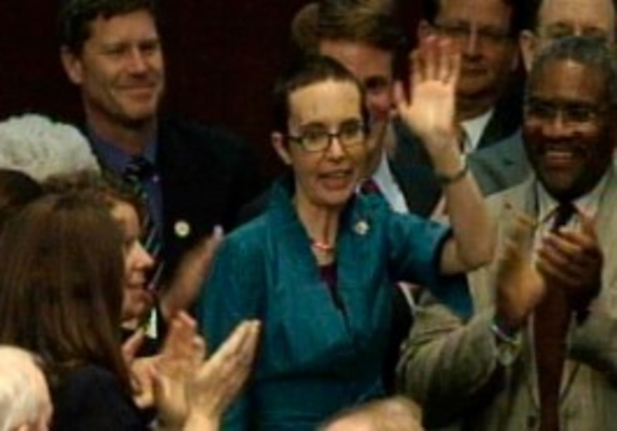 Gabrielle Giffords returns to the US Congress