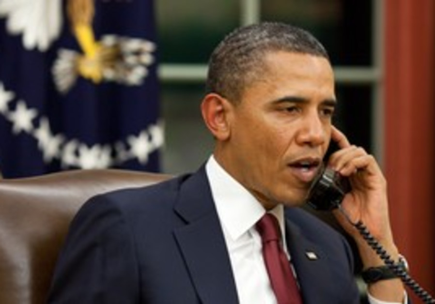 US President Obama on the phone [illustrative]