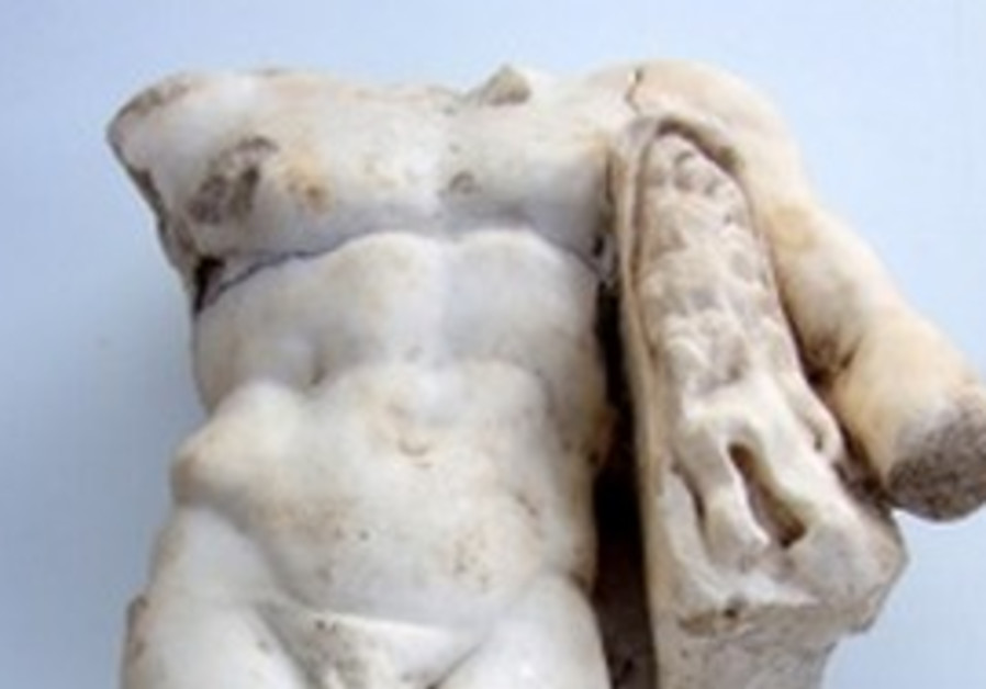 Uncovered Hurcules statue
