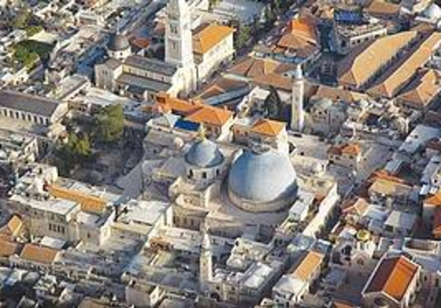 AN AERIAL shot of Jerusalem taken for the 3D film.