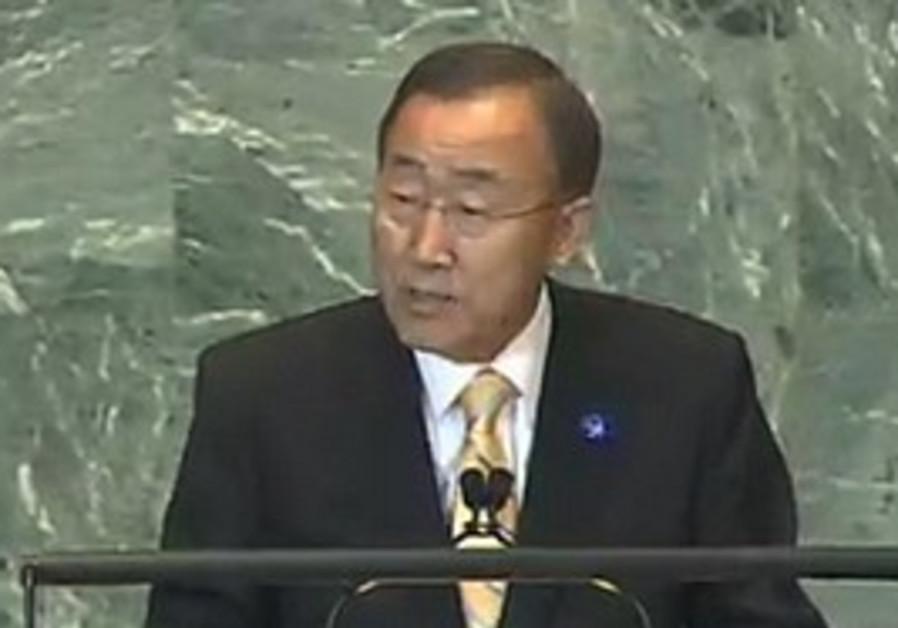 Ban Ki-moon addresses the UN General Assembly