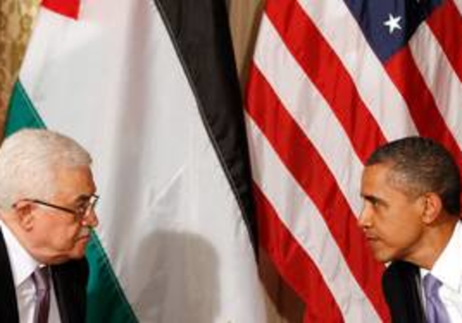 US President Obama with PA President Abbas
