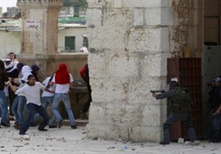 Clashes on Temple Mount (in 2010)