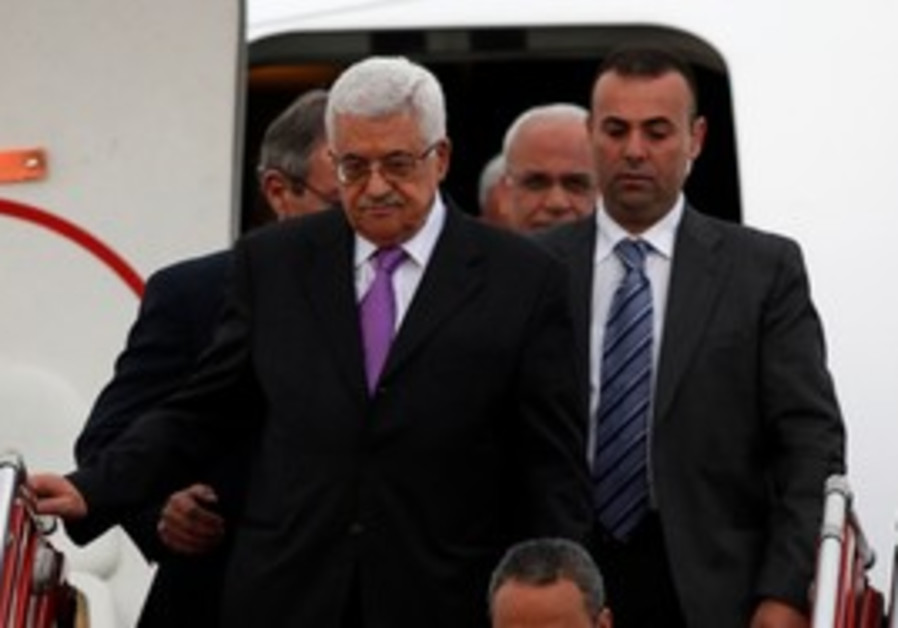 PA President Mahmoud Abbas arrives in Colombia