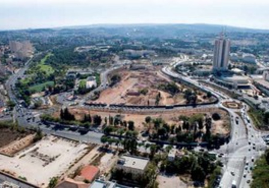 View of Jerusalem construction project.