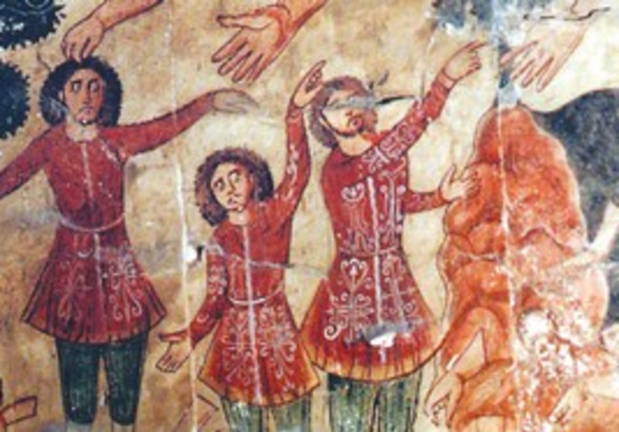 Fresco excavated from a Dura-Europos synagogue