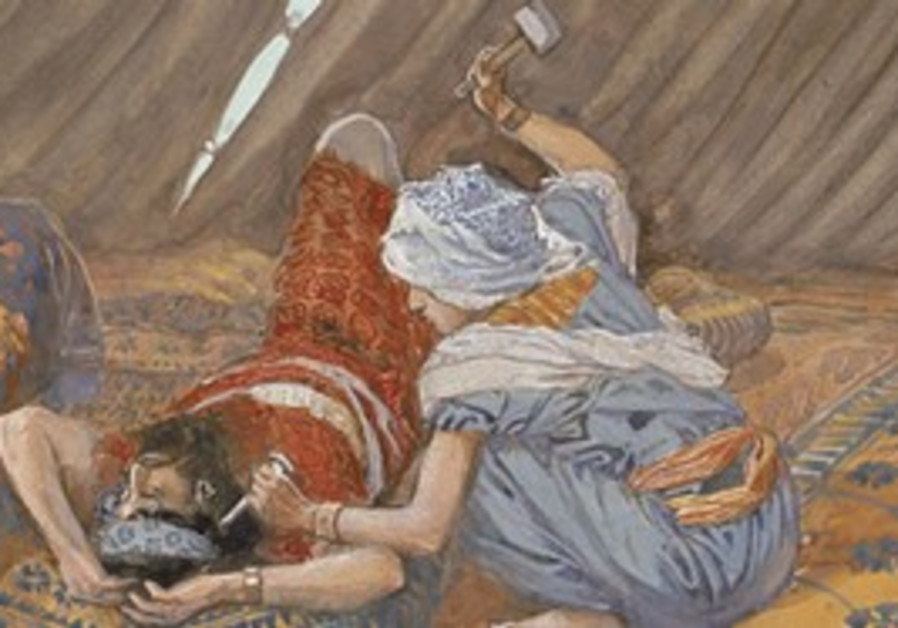 Yael smote Sisera, and Slew Him by James Tissot.