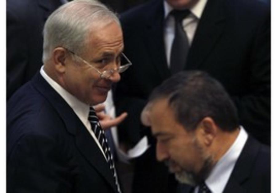PM Binyamin Netanyahu and FM Avigdor Lieberman