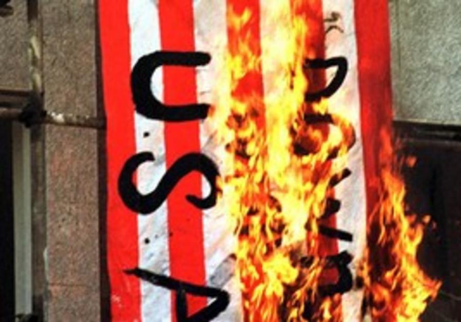 Iranians burn US flag [file]