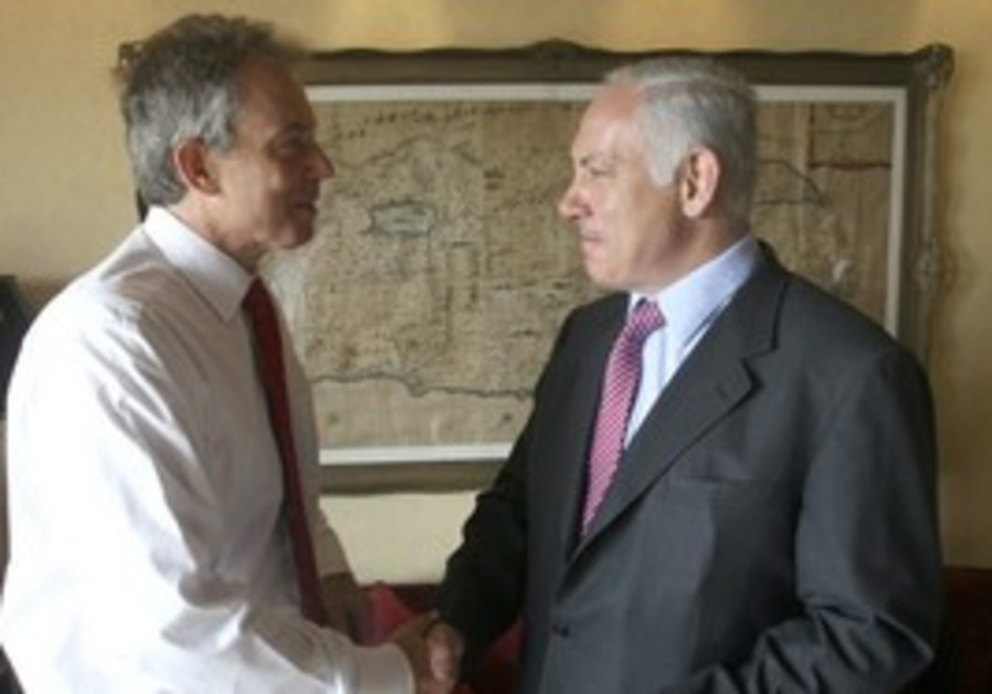 Quartet envoy Tony Blair and PM Netanyahu