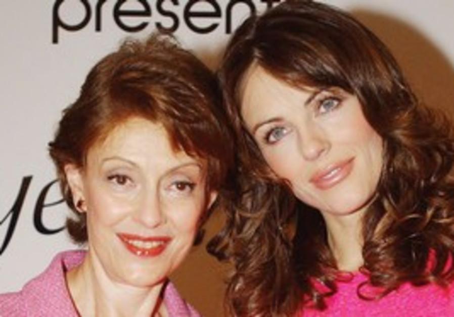 Evelyn Lauder with Elizabeth Hurley