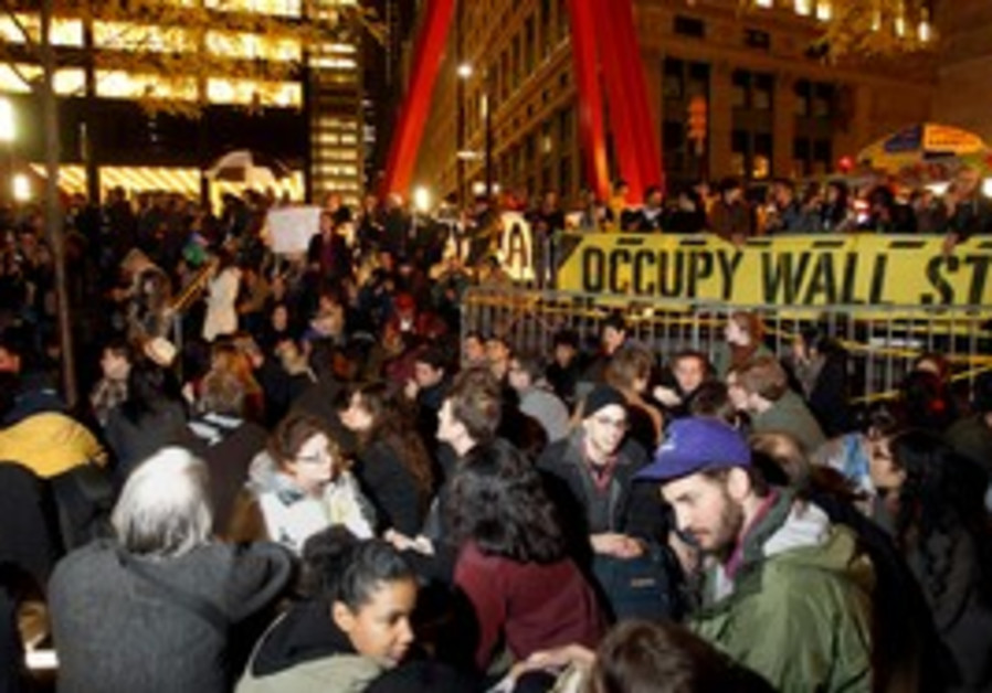 Protesters in NYC's Zucotti Park