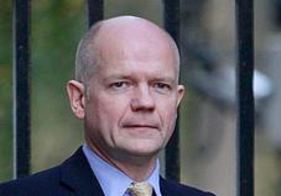 Britain's Foreign Secretary William Hague arrives