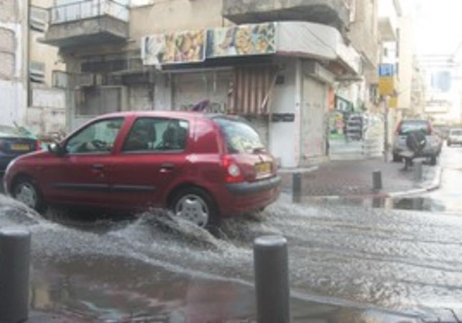 Rain floods streets in Tel Aviv [file]