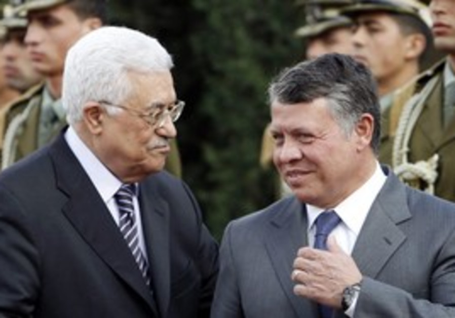 Jordan's King Abdullah II with Abbas
