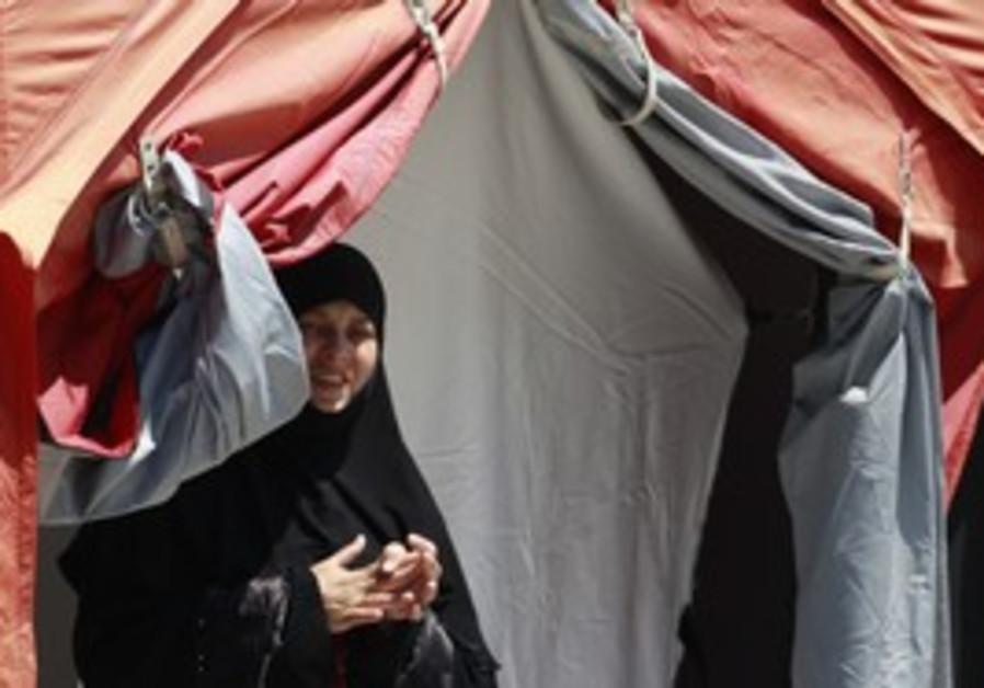 Syrian refugee at camp in Turkey