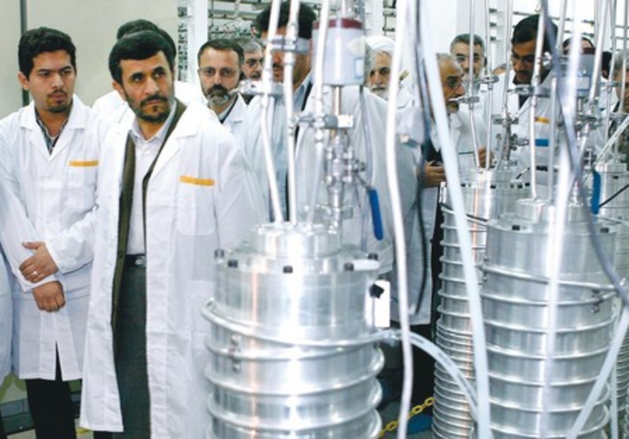 Mahmoud Ahmadinejad visits the Natanz nuclear site