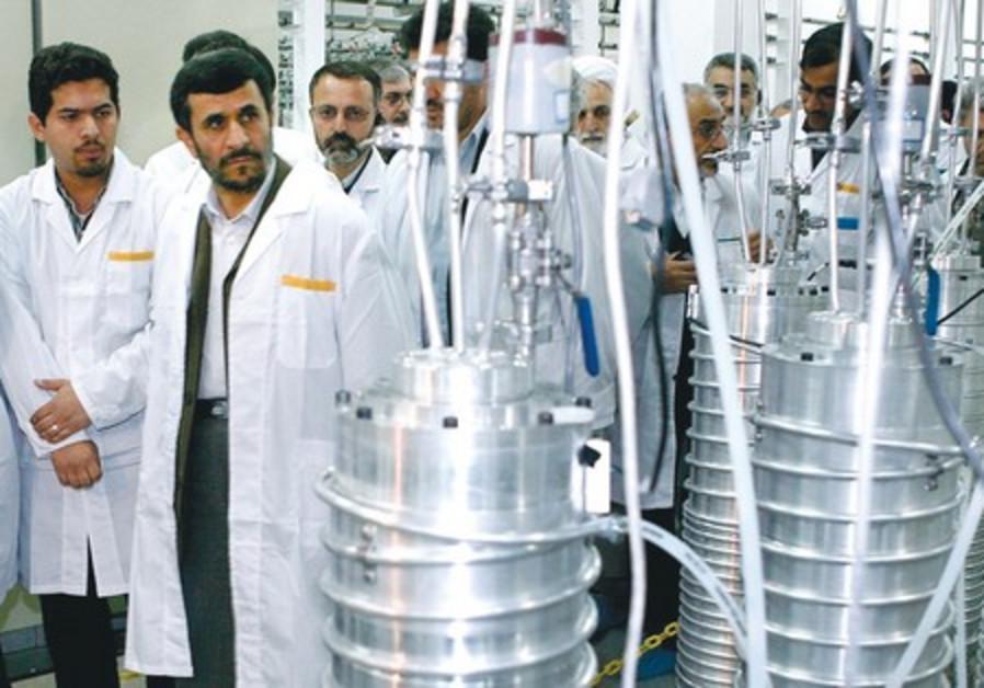 Mahmoud Ahmadinejad visits the Natanz nuclear site