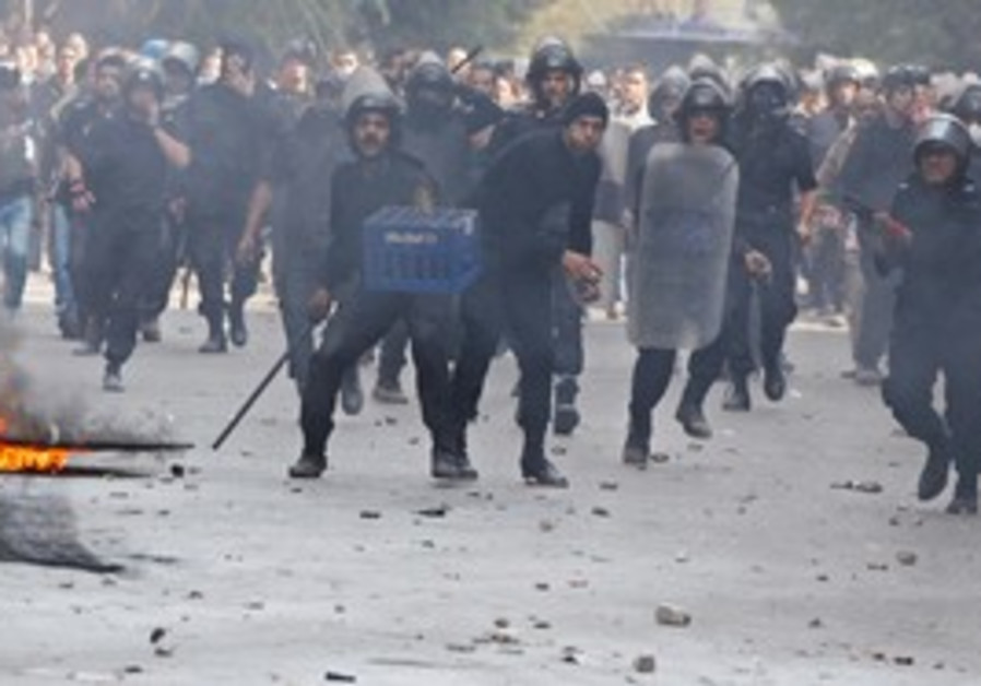 Riot police in Cairo