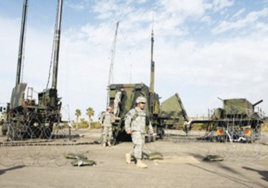 Patriot anti-missile battery site