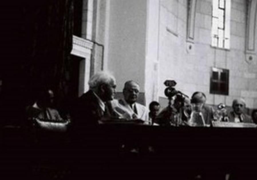 Ben-Gurion meets with UNSCOP members at J'lem YMCA